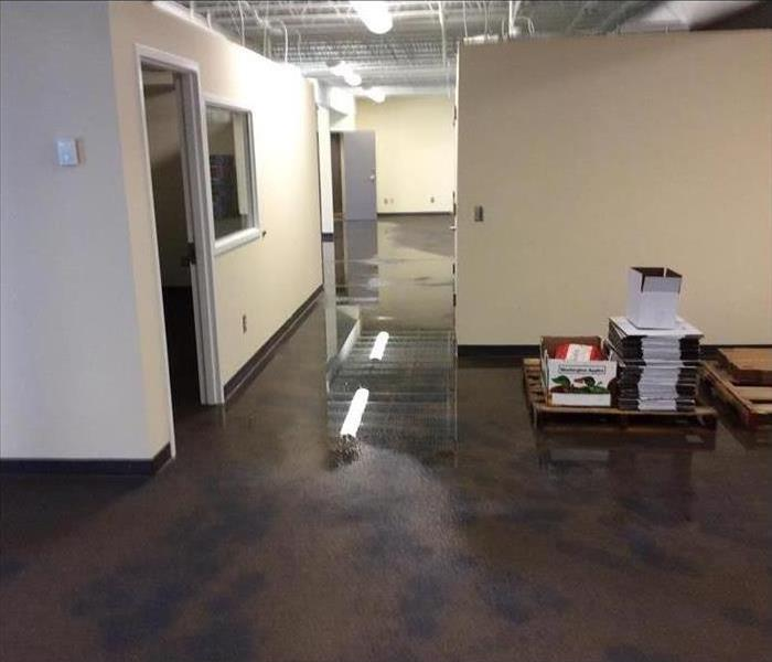 Flooded office building in Acworth, GA